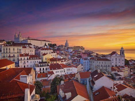 リスボン:夕暮れの風景