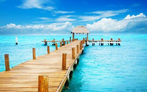 カリブ海の綺麗な海(カンクン)