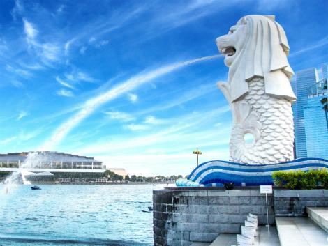 シンガポール:圧巻のマーライオン