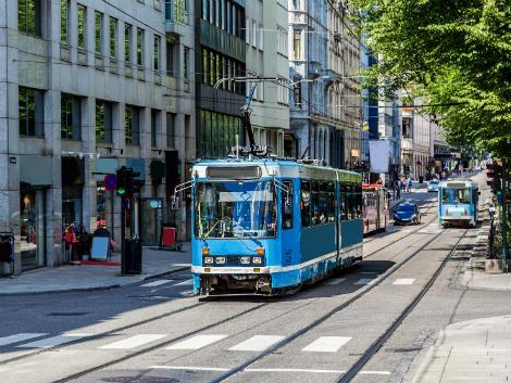 ◇オスロ:トラムの走る街並み