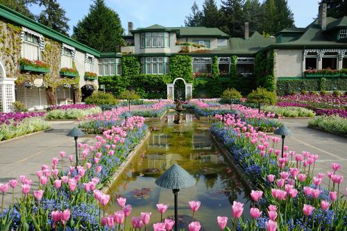 様々な種類の庭園があるブッチャートガーデン(ビクトリア)