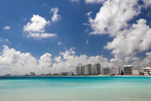 綺麗なカンクンのビーチ
