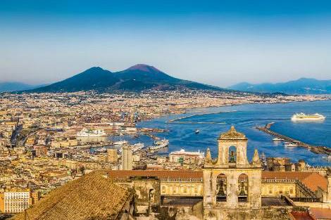 ◇◎ナポリ:ヴェスヴィオ山と街並み