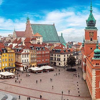ワルシャワの海外旅行・海外ツアー
