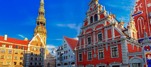 ラトビアの町並み