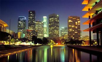 ロサンゼルスの夜景(イメージ