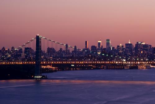 ニューヨークの夕暮れ