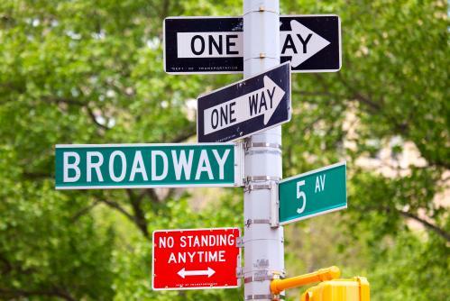 ニューヨークのポップな道路標識