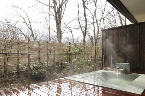 宮城蔵王(遠刈田温泉):竹泉荘 露天風呂付き客室 客室露天風呂一例