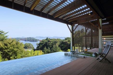松島:ホテル松島大観荘 露天風呂