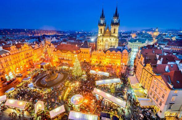看板画像チェコ共和国 クリスマスマーケット