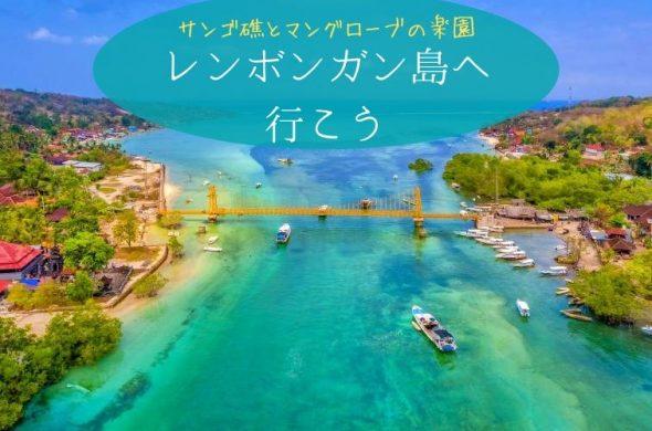 看板画像サンゴ礁とマングローブの楽園 レンボンガン島へ 行こう