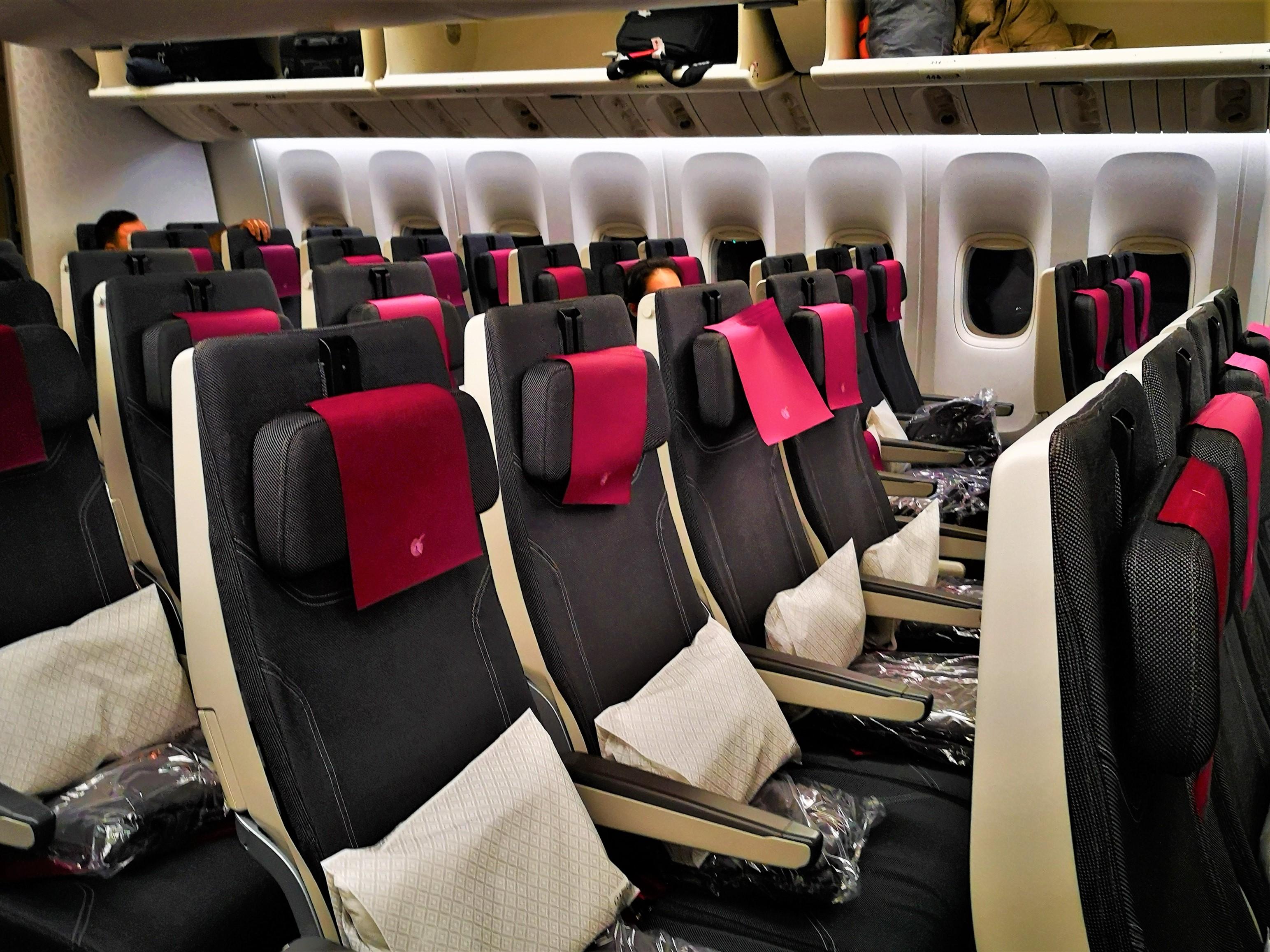 カタール航空エコノミークラス座席