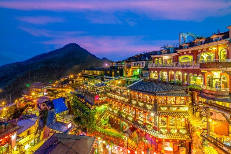 九フンの夜景 台湾
