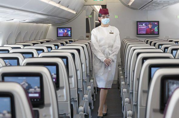 飛行機のコロナ対策は安全?世界一の航空会社カタール航空のコロナ対策