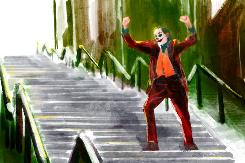 joker2 joker stairs in bronx newyork_