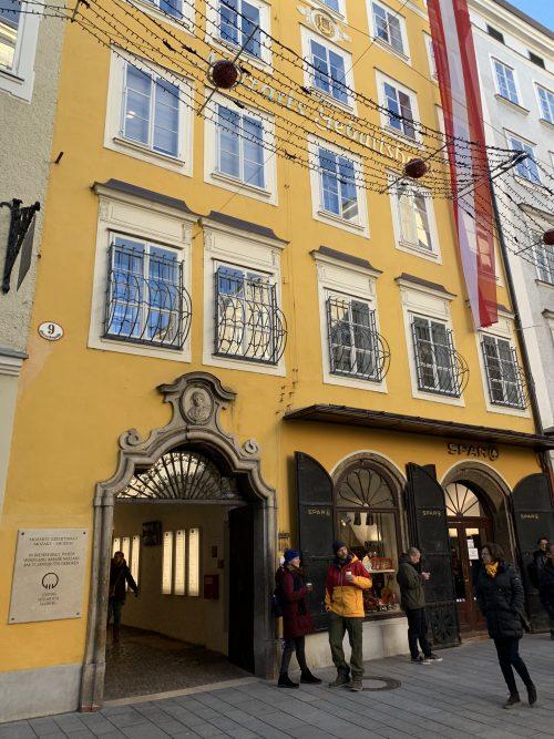 ゲトライゼガッセにあるモーツァルトの生家