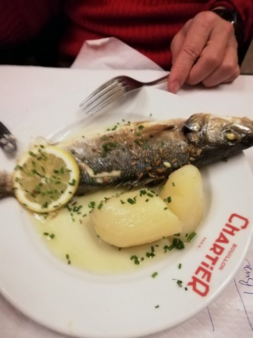 Chartierの白身魚ソテー