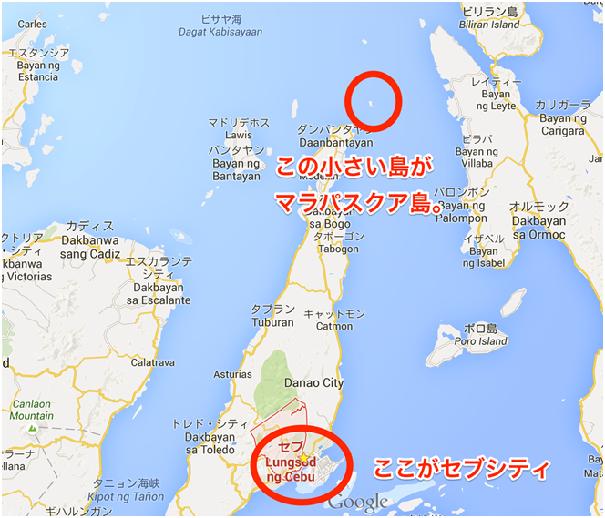 『マラパスクア島』の地図
