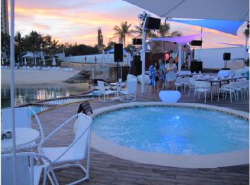 イビザビーチクラブのジャグジー