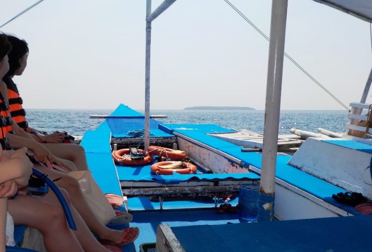 ボート 移動中