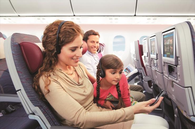 世界最高峰の快適な機内サービス