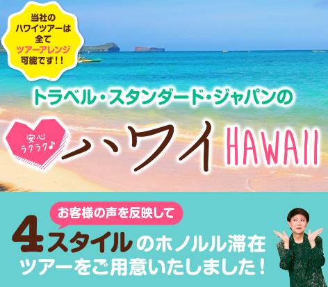 4スタイルから選べるハワイツアー