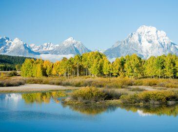 グランドティトン国立公園の美しい景色