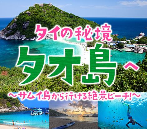 タイの秘境「タオ島」へ!サムイ島から行ける絶景ビーチ!