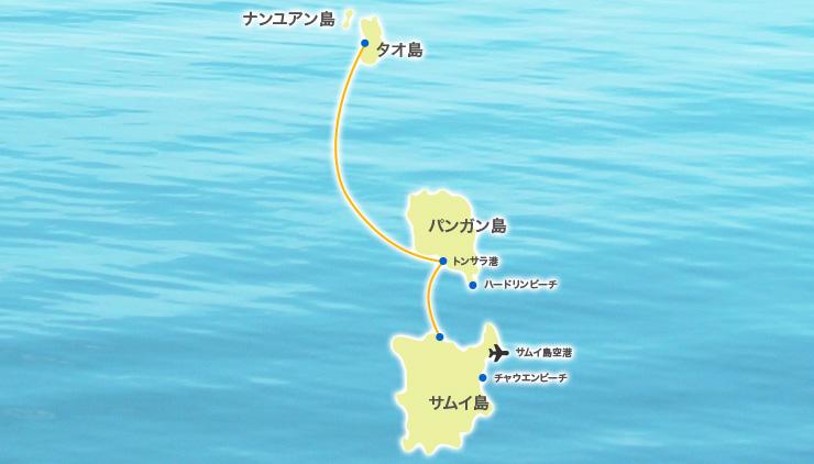 サムイ島からタオ島への行き方