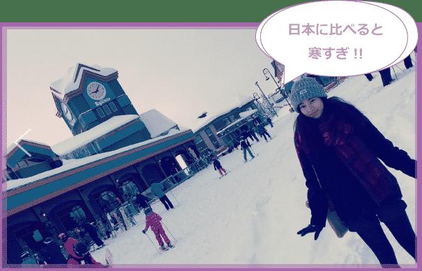 雪の中の写真