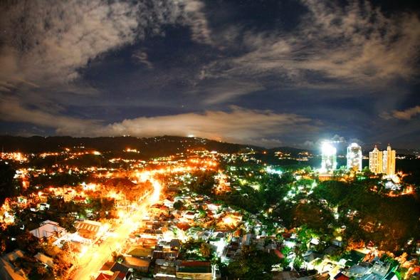 セブ島の夜景もワンダフル〜〜♥