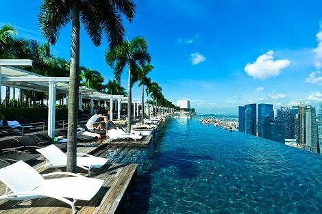 Infinity Pool at Sands SkyPark/提供:Marina Bay Sands