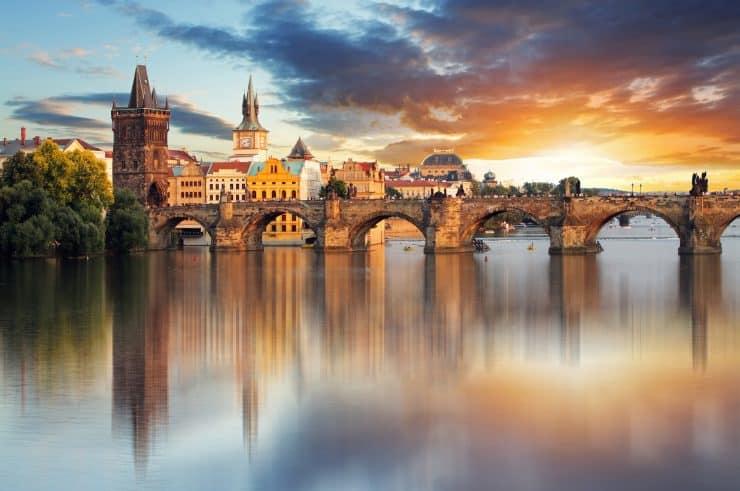プラハの街並み カレル橋