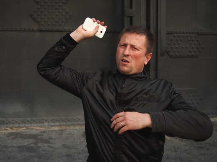 mobile phone throwing