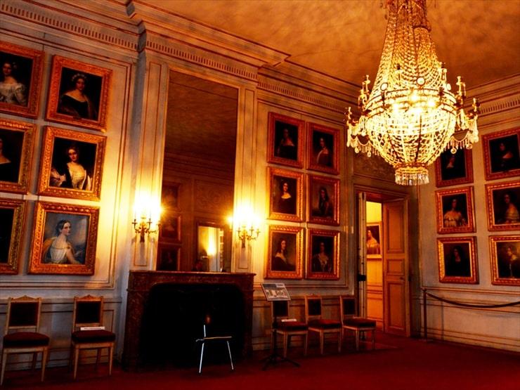ニンフェンブルク城/ルートヴィヒ1世の美人画ギャラリー。