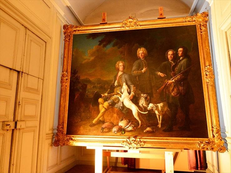 ニンフェンブルク城/バイエルン選帝侯カール7世が描かれた絵画。