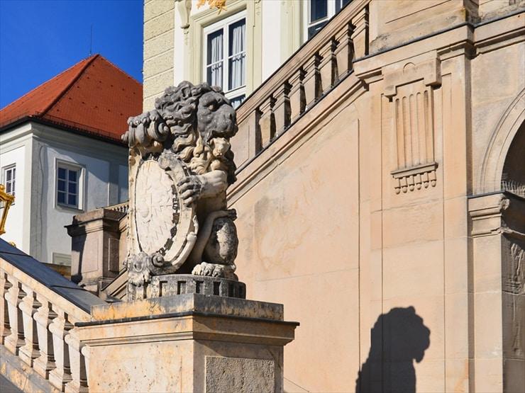 ライオン像はバイエルン王国のシンボル
