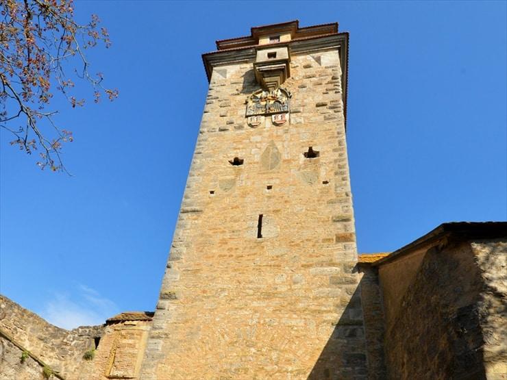 街の一番南側にあるシュピタール門の塔。
