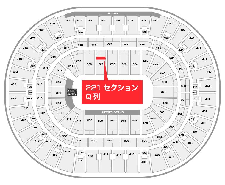 ホンダセンター 座席:221セクション Q列