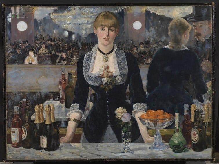 エドゥアール・マネ『フォリー=ベルジェールのバー』(1882)© The Samuel Courtauld Trust, The Courtauld Gallery, London