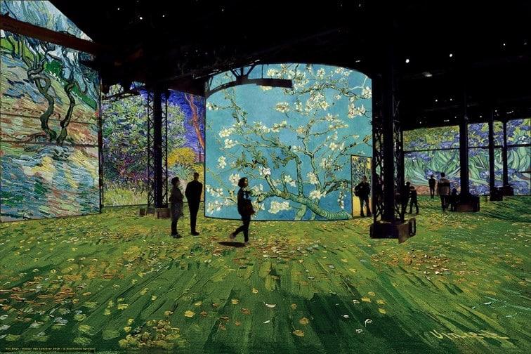 Simulation Van Gogh, La nuit étoilée ©Culturespaces / Gianfranco Iannuzzi