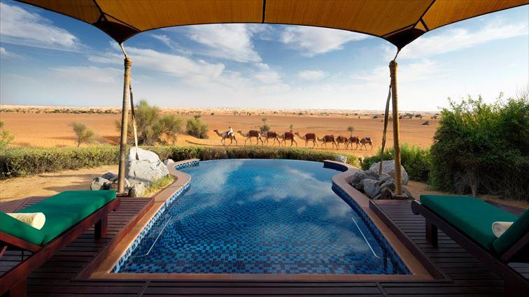 砂漠のリゾートホテル「アルマハ ラグジュアリーコレクション・デザート リゾート&スパ」
