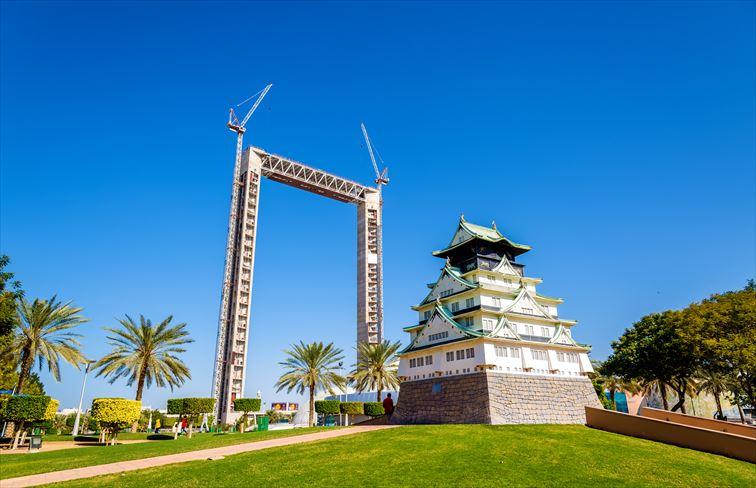 ドバイフレーム(THE DUBAI FRAME)と大阪城