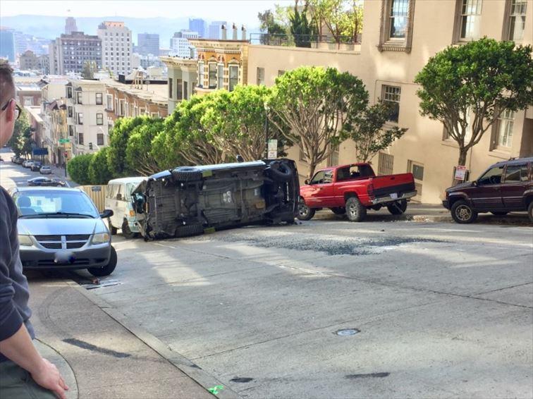 2018年公開の「アントマン&ワスプ」の撮影では、SUVが転がった場所はノブヒル。