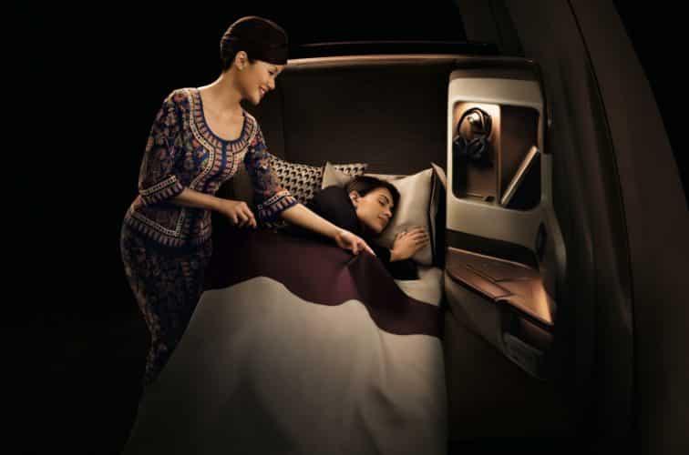 シンガポール航空ビジネスクラスの様子