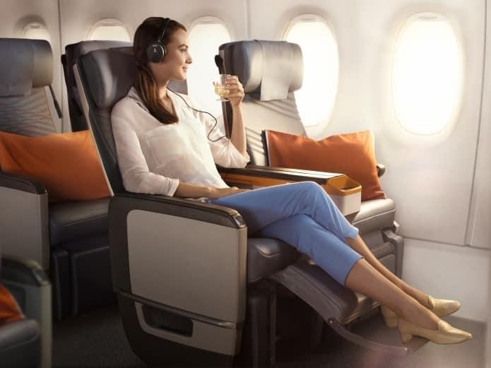 シンガポール航空プレミアムエコノミーの座席