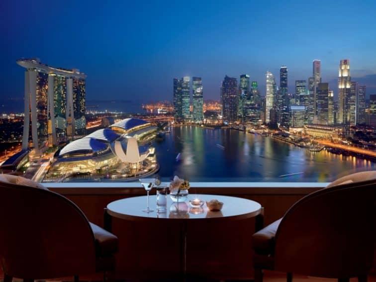 リッツカールトンシンガポールの夜景