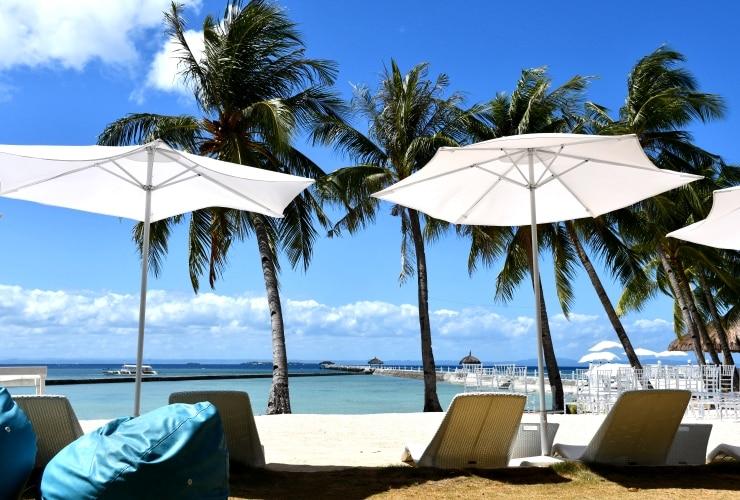 パシフィックセブリゾート ビーチの眺め