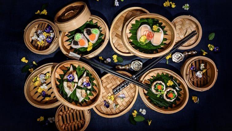 バンヤンツリーバンコクのバイユンレストランの広東料理メニュー